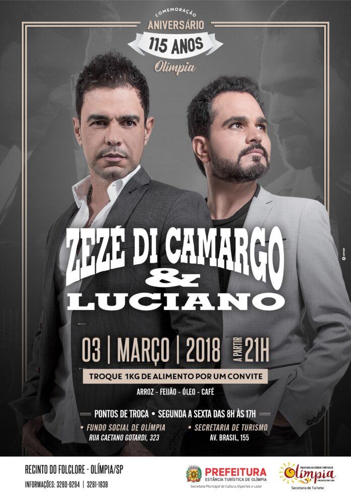 Troca de ingressos para show de Zezé Di Camargo e Luciano inicia nesta segunda
