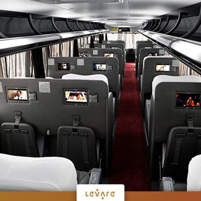 Levare investe R$ 2,1 milhões em novos ônibus com a tecnologia Relax Seat